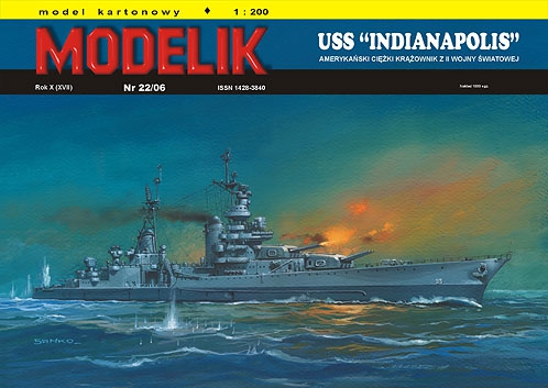 "nr kat. 0622: USS ""INDIANAPOLIS"""