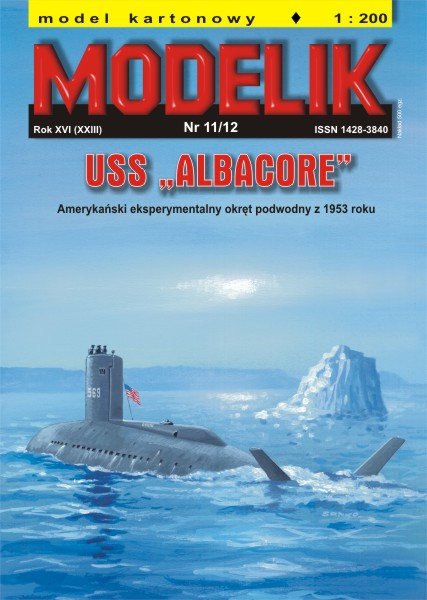 "cat. no. 1211: USS ""ALBACORE"""