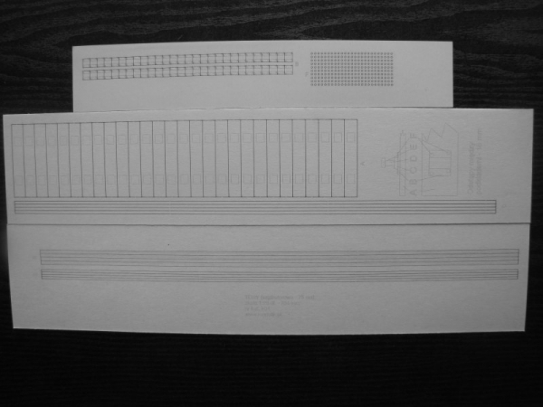 nr kat. T05: Narrow-gauge track (track gauge of 75 cm) in 1:25 scale
