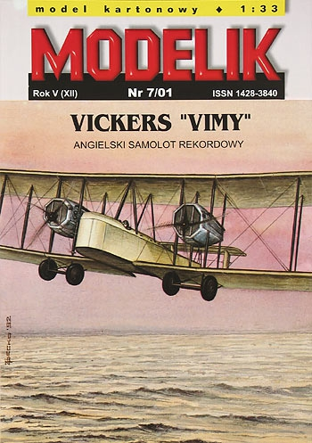 "cat. no. 0107: VICKERS ""VIMY"" (ATLANTIC VERSION)"