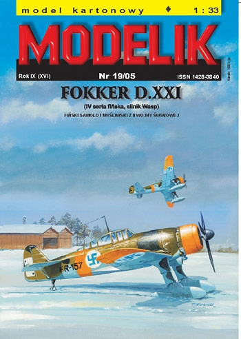 cat. no. 0519: FOKKER D.XXI