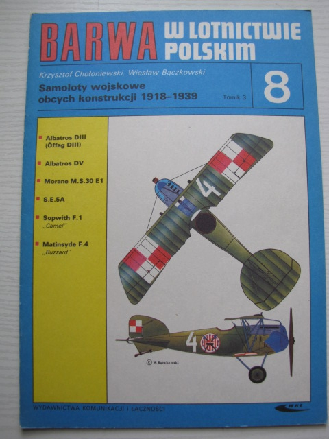 COLOUR IN POLISH AVIATION, FOREIGN MILITARY AIRCRAFTS 1989-1939 part III
