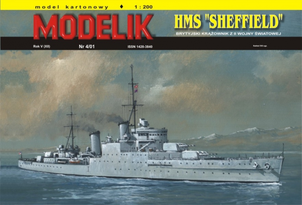 "cat. no. 0104: HMS ""SHEFFIELD"""
