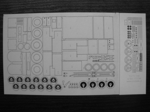 cat. no. 1703W: Henschel Bn2t+t (T2-71) 1:45 Frames, wheels, details, engraved plates