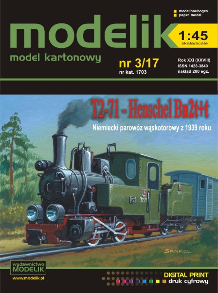 cat. no. 1703: Henschel Bn2t+t (T2-71) 1:45