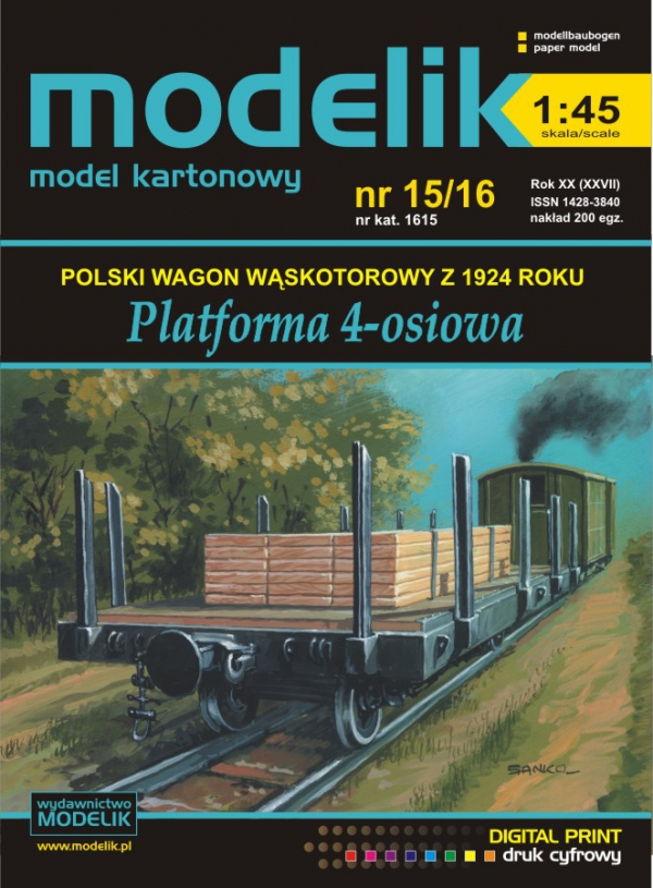 cat. no. 1615: Narrow gauge wagon 1:45