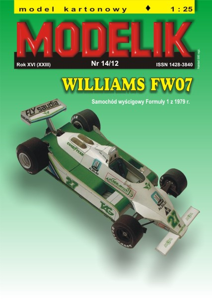 cat. no. 1214: WILLIAMS FW 07