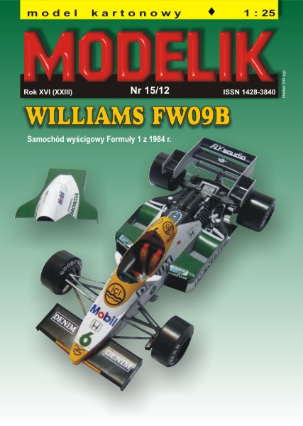 cat. no. 1215: WILLIAMS FW 09B